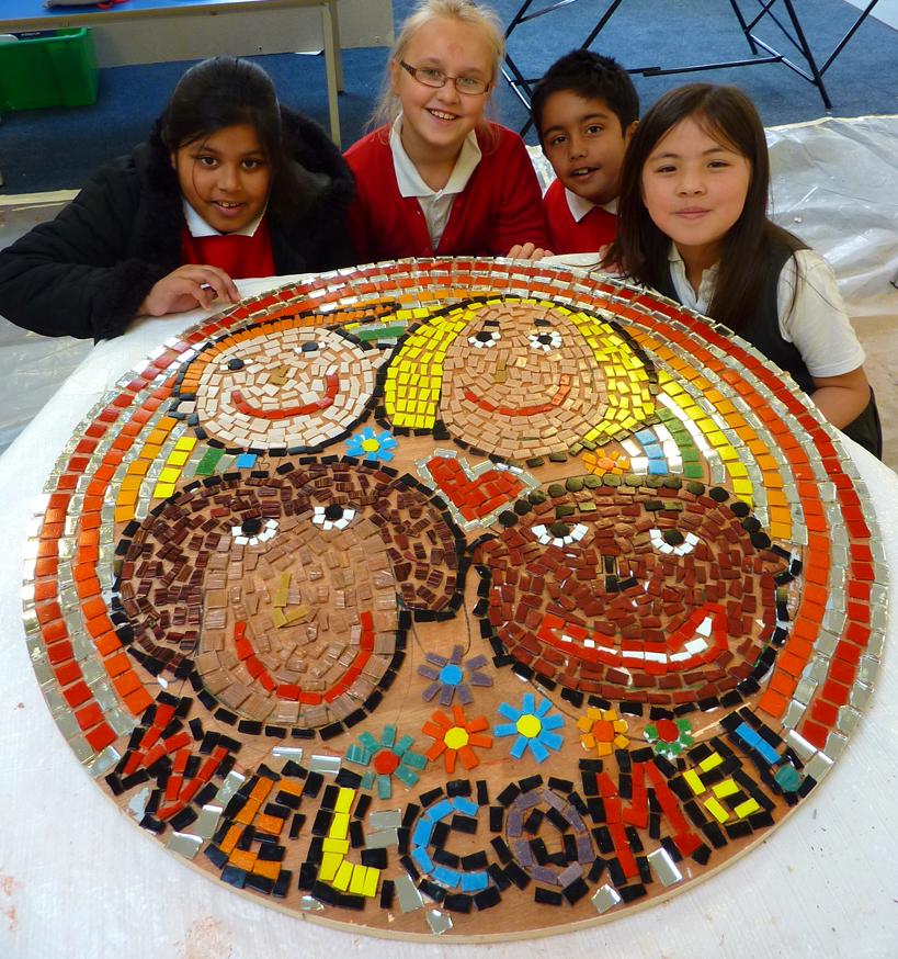 Queenspark Logo mosaic